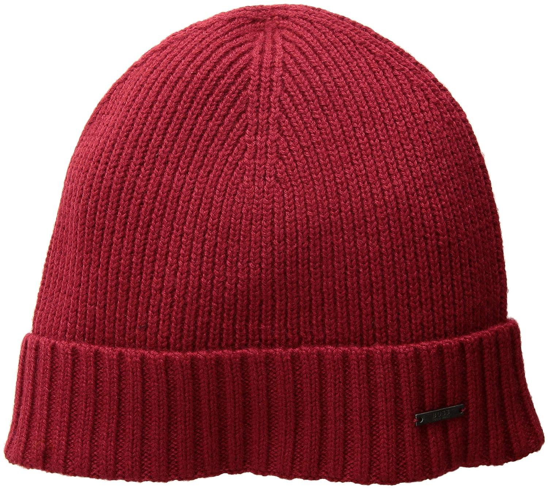 71c995e6 Amazon.com: Hugo Boss BOSS Men's Fati Hat, Dark red One Size: Clothing