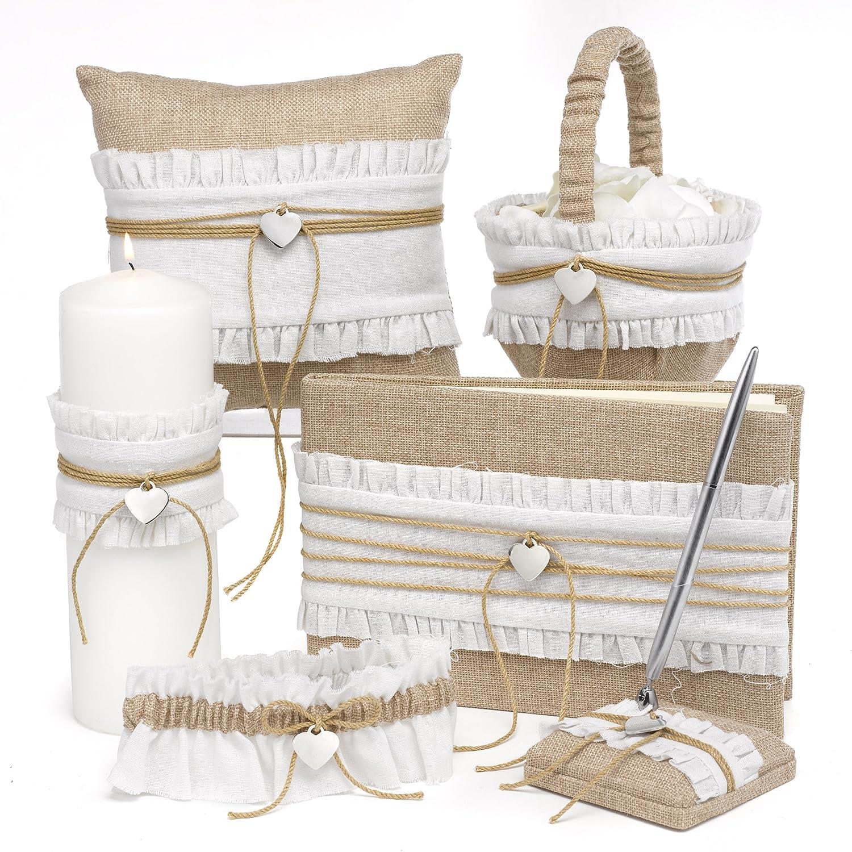 Amazon Hortense B Hewitt Rustic Romance Wedding Accessories Guest Book Home Kitchen