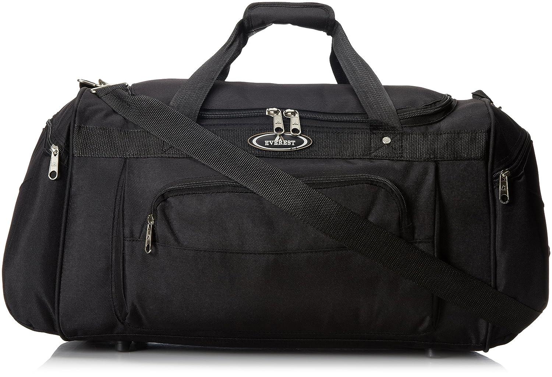 Everest Deluxe Sports Duffel Bag, Orange, One Size EVFDS S232-ORG/LGR/BK