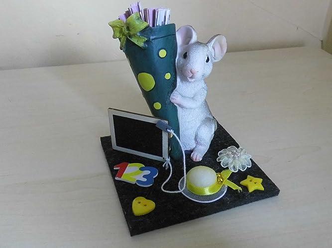 Geldgeschenk Maus Madchen Schulanfang Tischdeko Amazon De Handmade