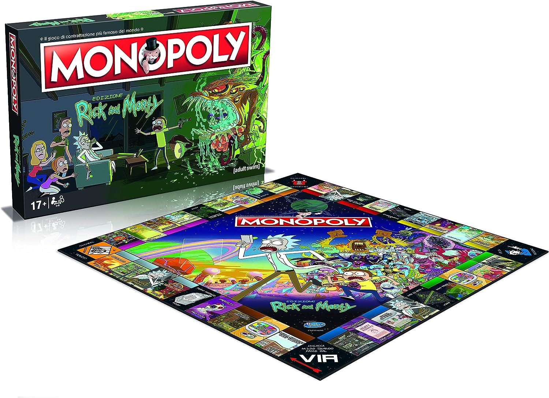 Winning Moves - Rick and Morty Monopoly Italian Edition, 036504: Amazon.es: Juguetes y juegos