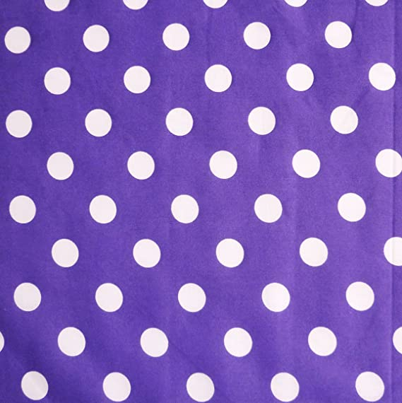 HOT PolyCotton fabric SPOTTED POLKA DOT CERISE PINK WHITE SPOTS 25 MM BRIGHT
