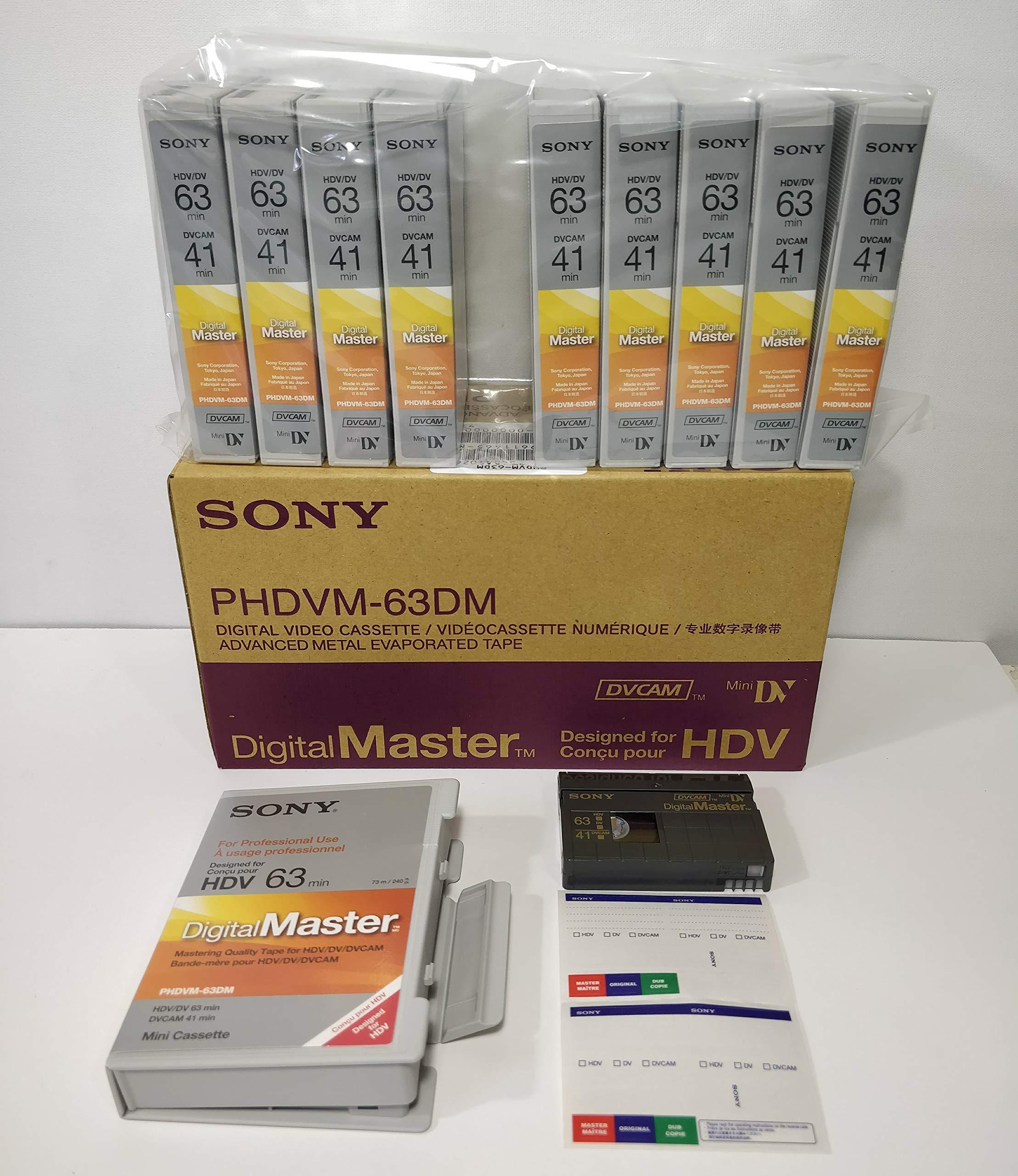 PHDVM-63DM DigitalMaster DV/HDV/DVCAM Tape (10 Pack) by Sony