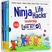 Ninja Life Hacks Leadership 8 Book Box Set (Books 17-24: Focused, Calm, Brave, Compassionate, Masked, Inclusive…
