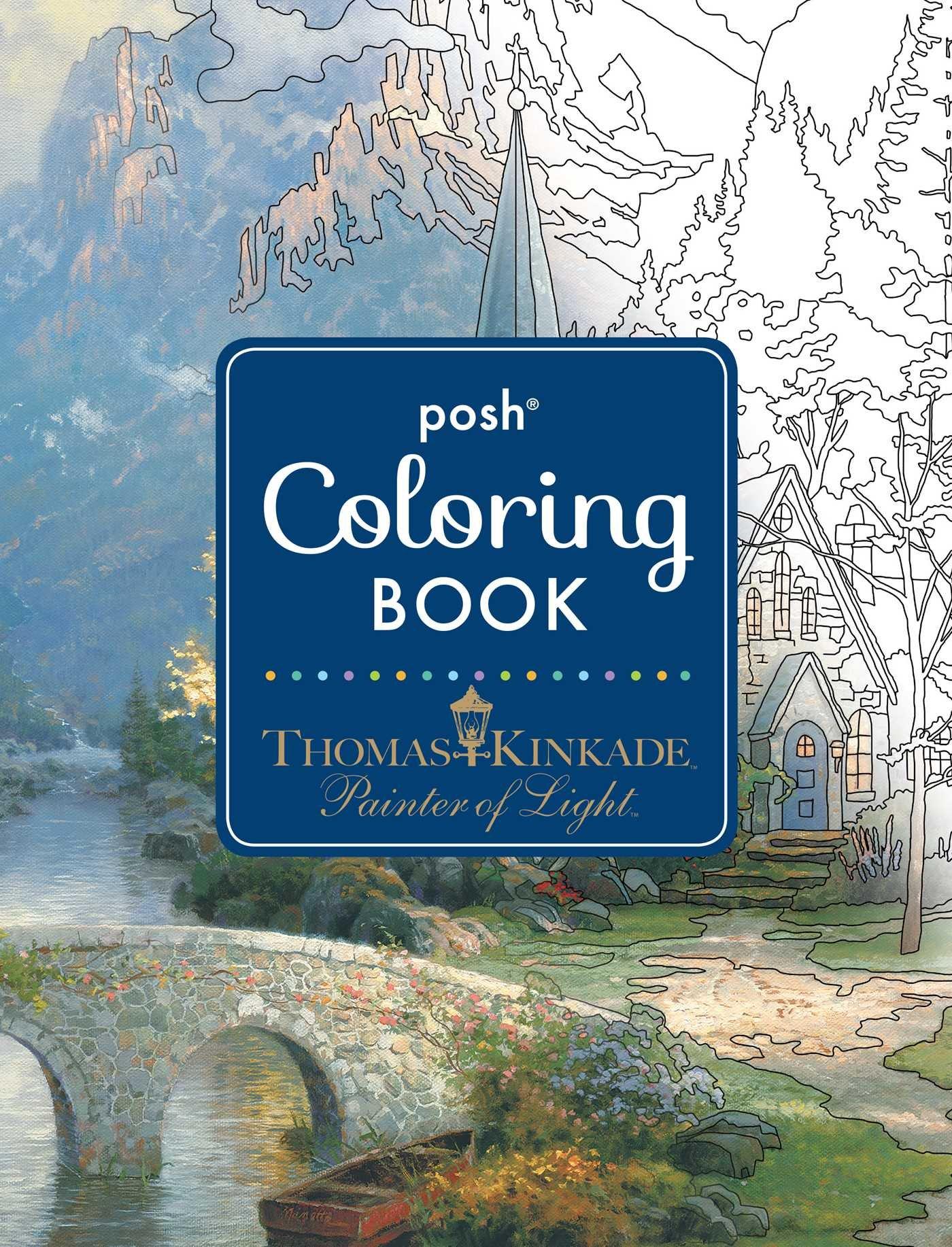 Amazon.com: Posh Adult Coloring Book: Thomas Kinkade Designs for ...