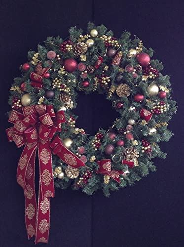 christmas wreath 36xl wreath with cordless light and timer options free shipping