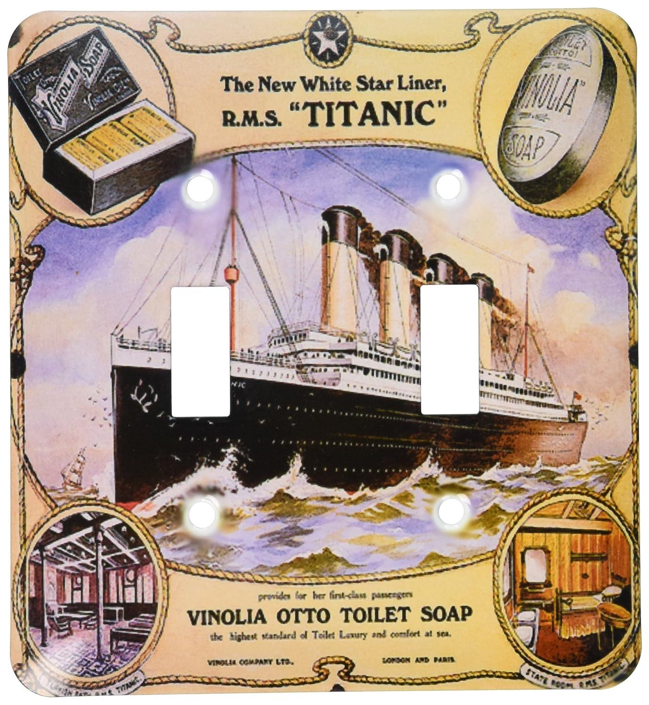 大注目 3drose Titanic LSP_ 149245_ 2ヴィンテージホワイトスターLine Titanic 3drose Vinolia_ OttoトイレSoap広告ポスター – ダブル切り替えスイッチ B00E1Q2HCS, ブリリアントガーデン:25ed4c44 --- svecha37.ru