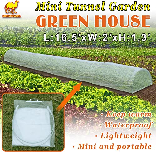 Strong Camel Large Walk-in Plants Greenhouse Portable Garden Green House Hot House w Combined Cover-White 16.5 x 2 x 1.3