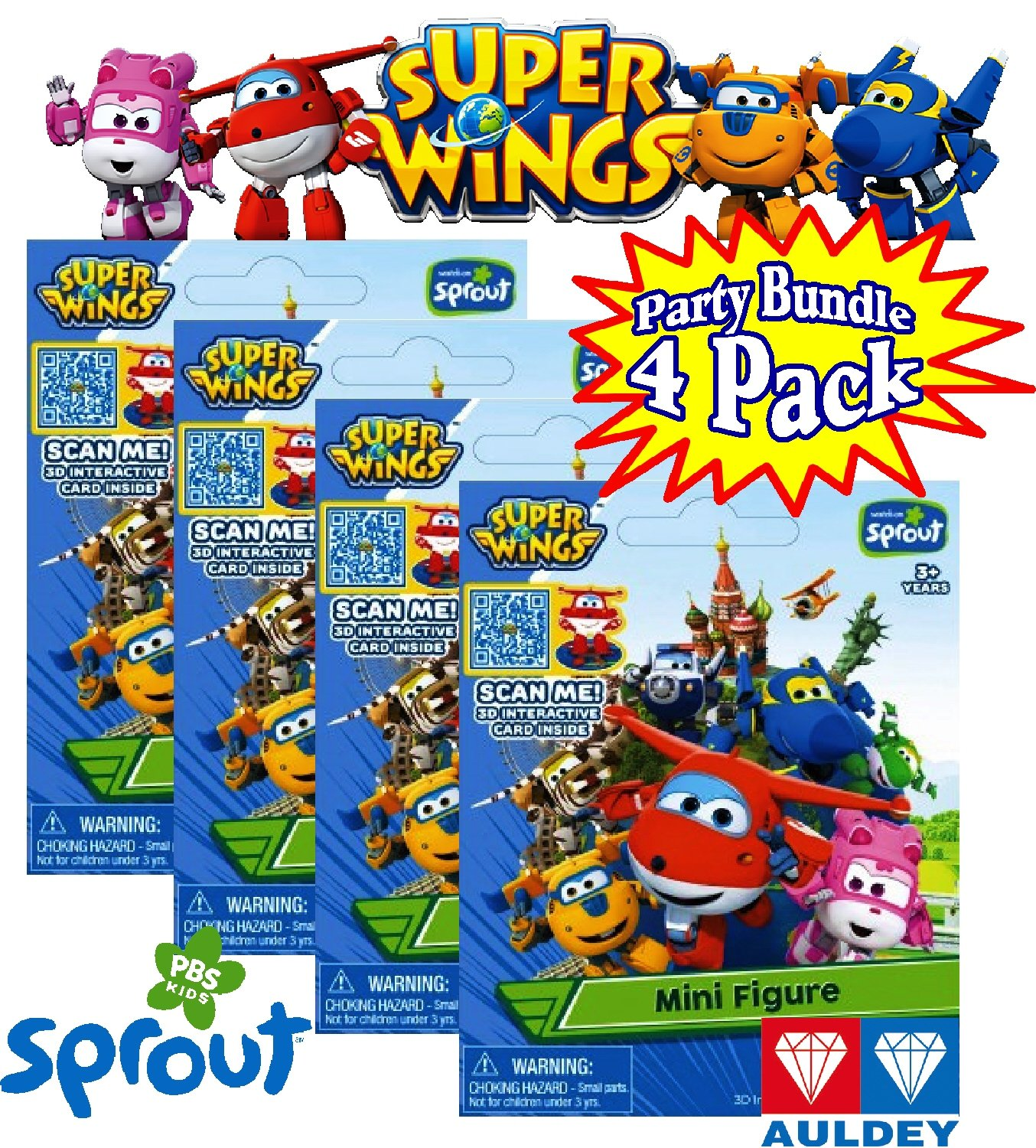 super wings mini figure blind packs with 3d interactive card party set bundle 4 pack - Sprout Super Wings Coloring Pages