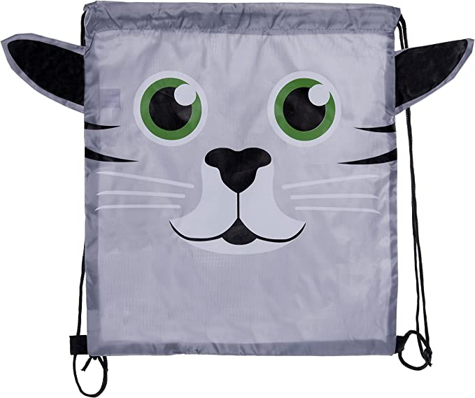 Bengalesque Cat Different Color Drawstring Backpack Sports Athletic Gym Cinch Sack String Storage Bags for Hiking Travel Beach