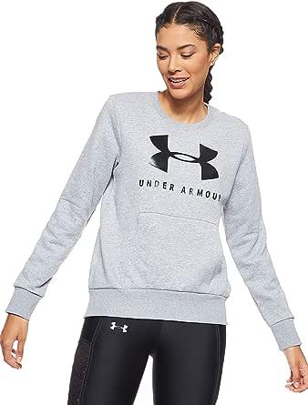 Under Armour Women's 12.1 Rival Fleece Sportstyle Graphic Creww Sweatshirt