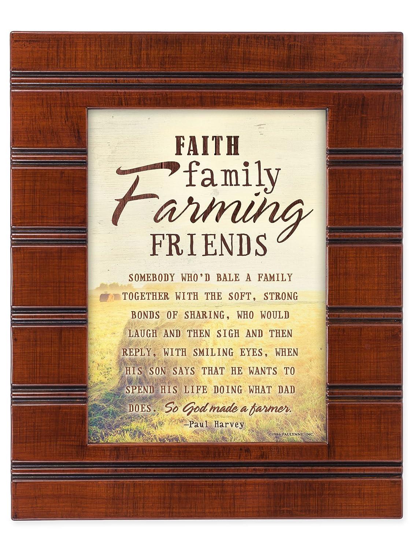 Amazon.com: Faith Family Farming Friends So God Made a Farmer Wood ...