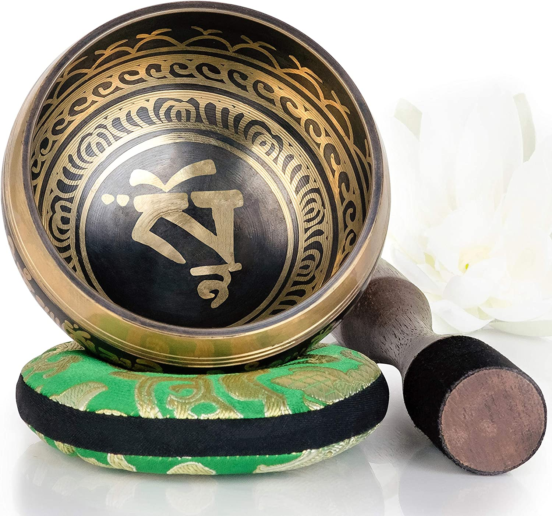 cuenco tibeteano Diseño de equilibrio y armonia 10 cm bronce