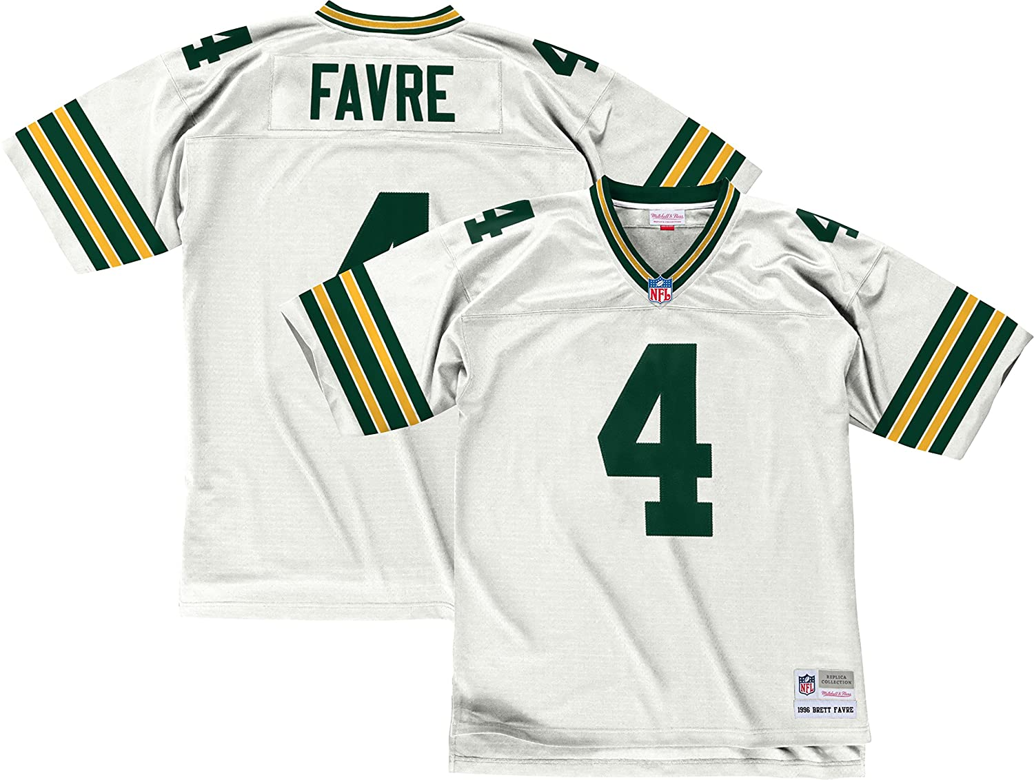 best sneakers b556f 232c5 Mitchell & Ness Brett Favre Green Bay Packers 1996 Throwback Jersey