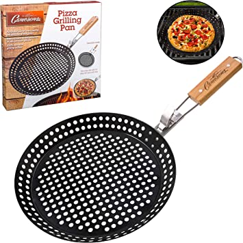 Medium BBQ Round Pizza Grilling Tray Steel