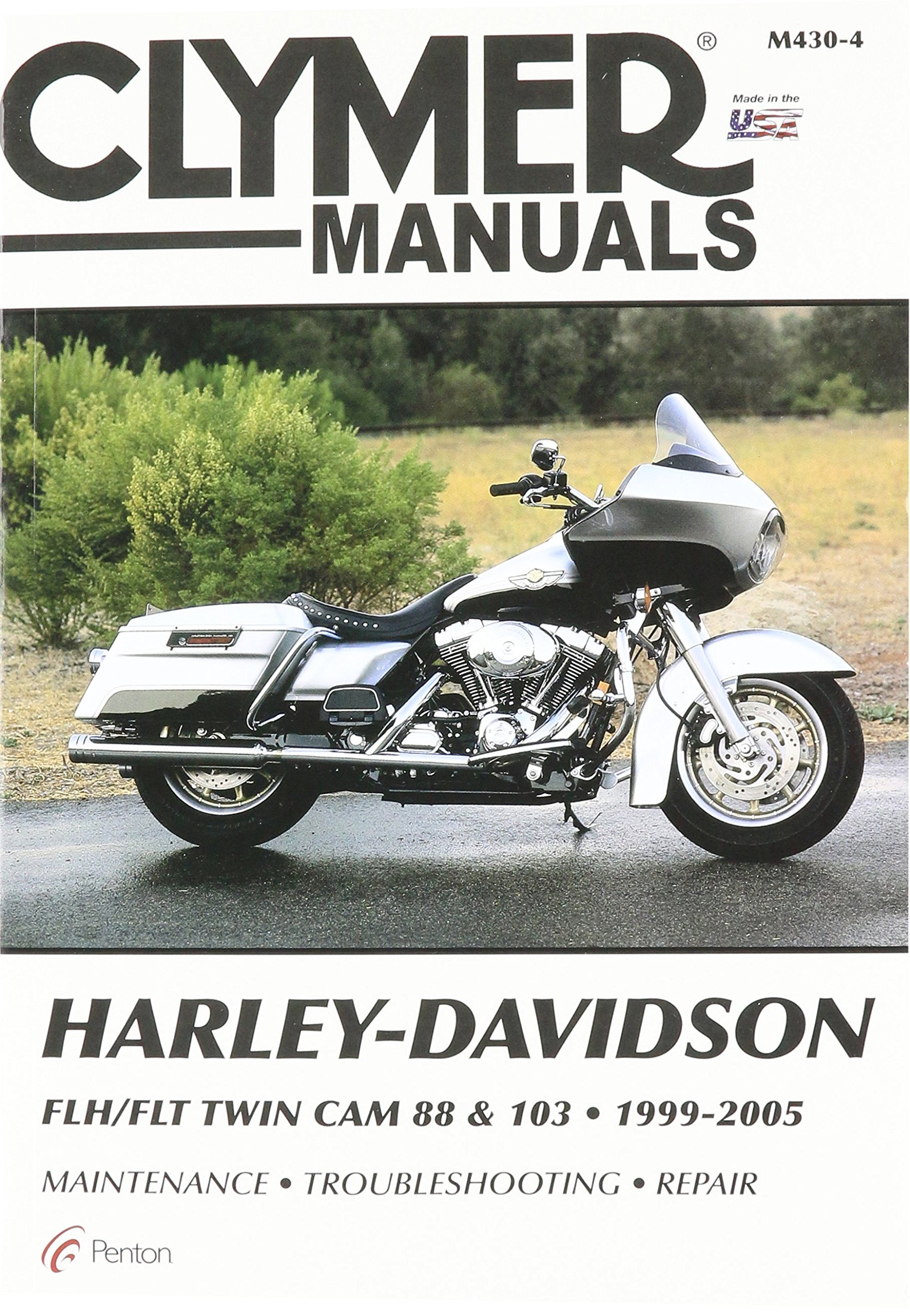 Amazon.com: Clymer Repair Manual for Harley FLH FLT Twin Cam ... on