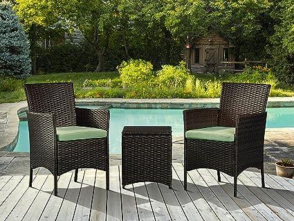 Amazon Com Loadan 3 Pieces Outdoor Patio Porch Furniture Sets Pe