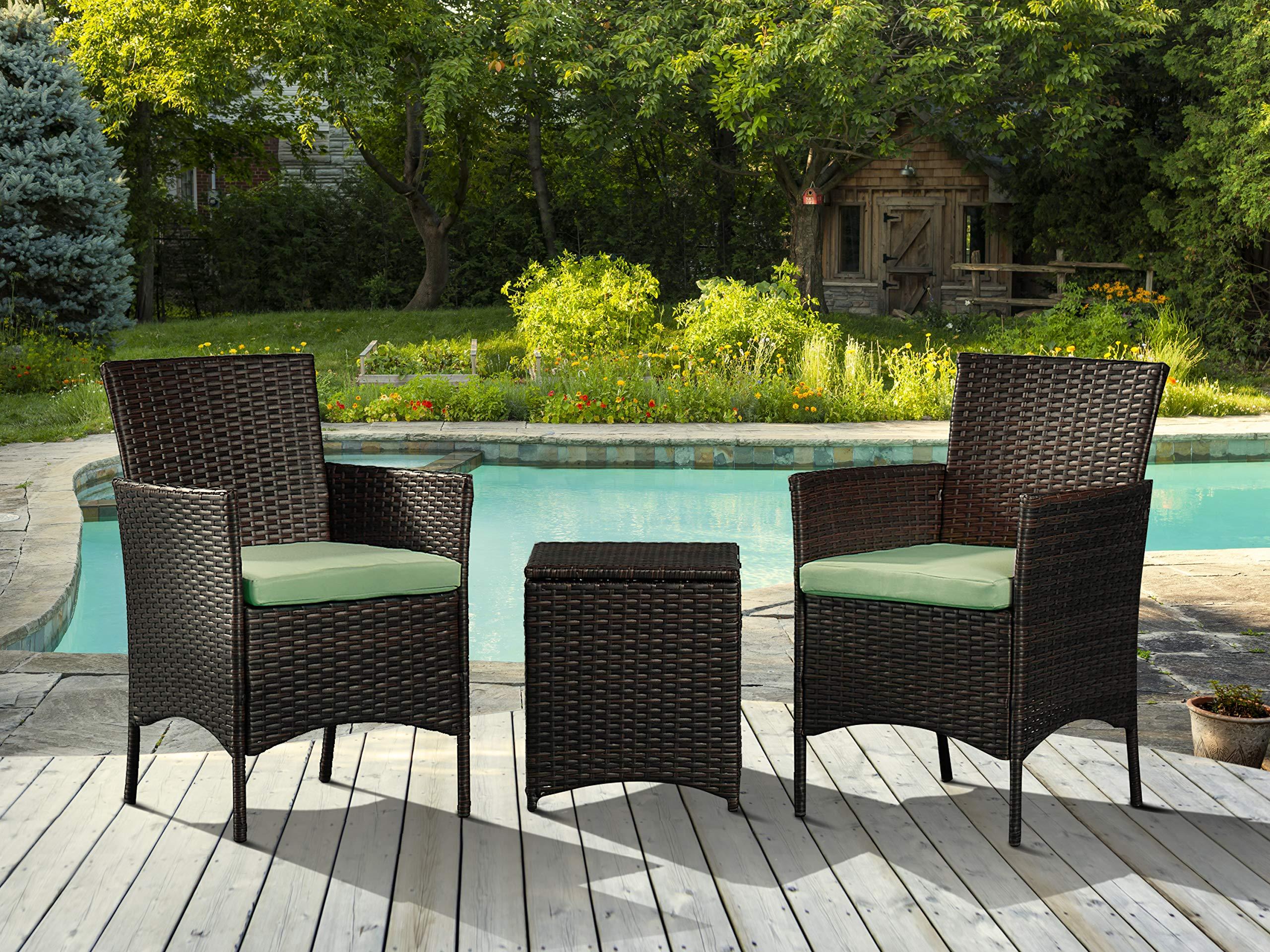 CHEAP 3 Pieces Outdoor Patio Porch Furniture Sets, PE ...