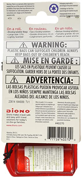 Diono Bag It Portable /& Refillable Trash Bag Dispenser