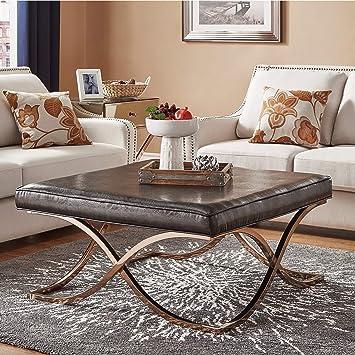 Amazon Com Inspire Q Solene X Base Square Ottoman Coffee Table