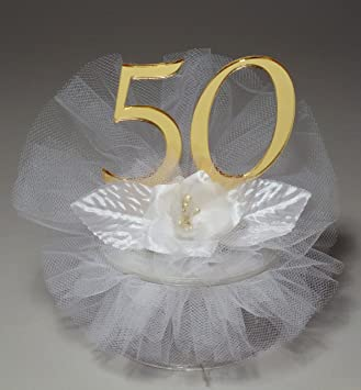 Amazoncom 50th Wedding Anniversary Cake Topper Kitchen Dining