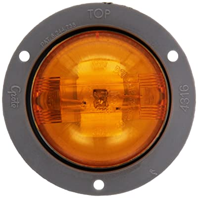"""Grote 47373 Yellow SuperNova 2 1/2"""" PC Rated (LED Clearance Marker Light, Gray Theft-Resistant Flange): Automotive"""