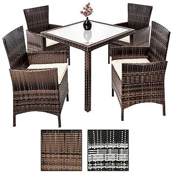 Amazon.de: Estexo® Polyrattan-Sitzgruppe für 4-8 Personen, Rattan ...