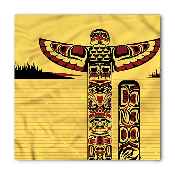 Amazon Lunarable Native American Bandana Totem Pole Retro