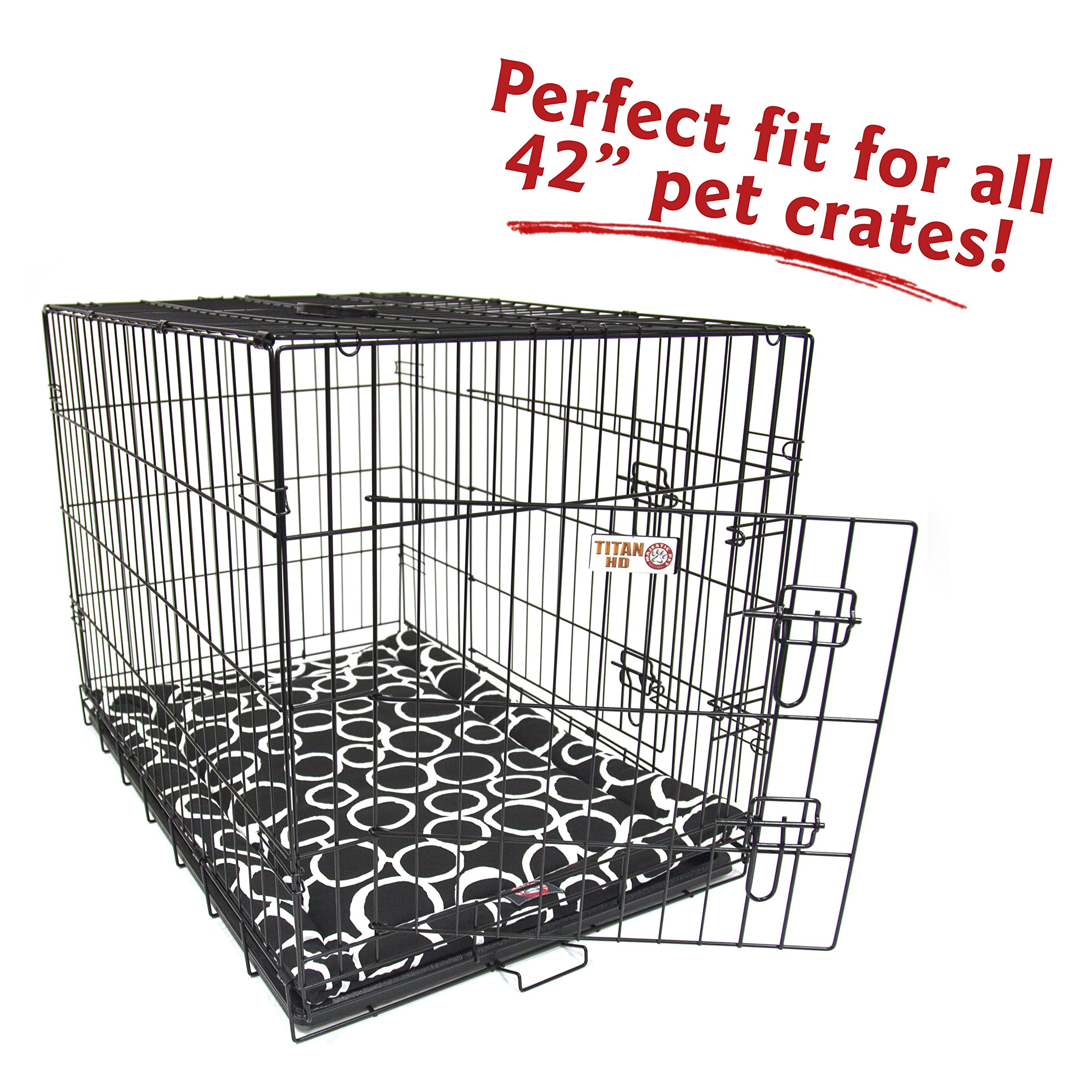 Majestic Pet 42'' Fusion Black Crate Dog Bed Mat Products by Majestic Pet (Image #4)