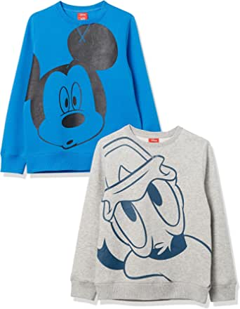 Amazon Brand - Spotted Zebra Boys' Disney Star Wars Marvel Fleece Crew Sweatshirts