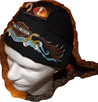 Amazon Genuine Harley Davidson Black Skull Cap Doo Du Do Rag
