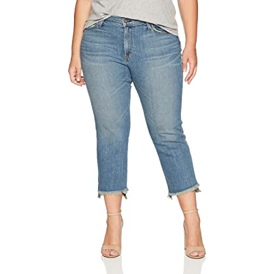 James Jeans Women's Plus Size Hi-lo Straight Leg Stepped Hem Jean in Melrose: Clothing