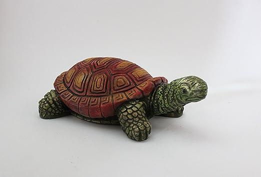 ARTESANÍA ROCA Tortuga de Piedra para decoración de jardín. Pintado a Mano, Producto Nacional.: Amazon.es: Jardín