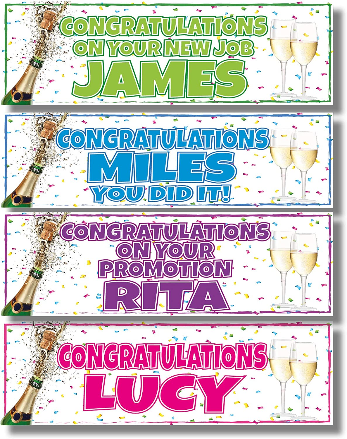 2 X PASSED YOUR DRIVING TEST PERSONALISED BANNERS