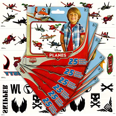 Disney Planes Temporary Tattoos Party Favor Pack (150 Airplane Temporary Tattoos): Toys & Games