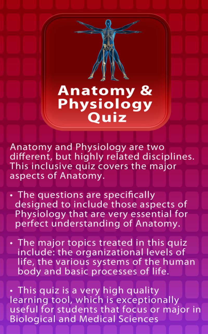 Anatomy & Physiology Quiz
