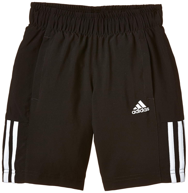 adidas Jungen Essentials Mid 3 Stripes Woven Shorts schwarz/weiß 140 S23288 ADIEY #adidas