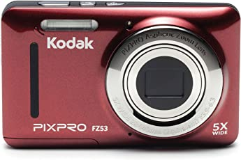 "Kodak PIXPRO Friendly Zoom FZ53 16 MP Digital Camera with 5X Optical Zoom and 2.7"" LCD Screen (Red)"