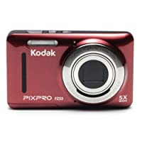 """Kodak PIXPRO Friendly Zoom FZ53 16 MP Digital Camera with 5X Optical Zoom and 2.7"""" LCD Screen (Red)"""