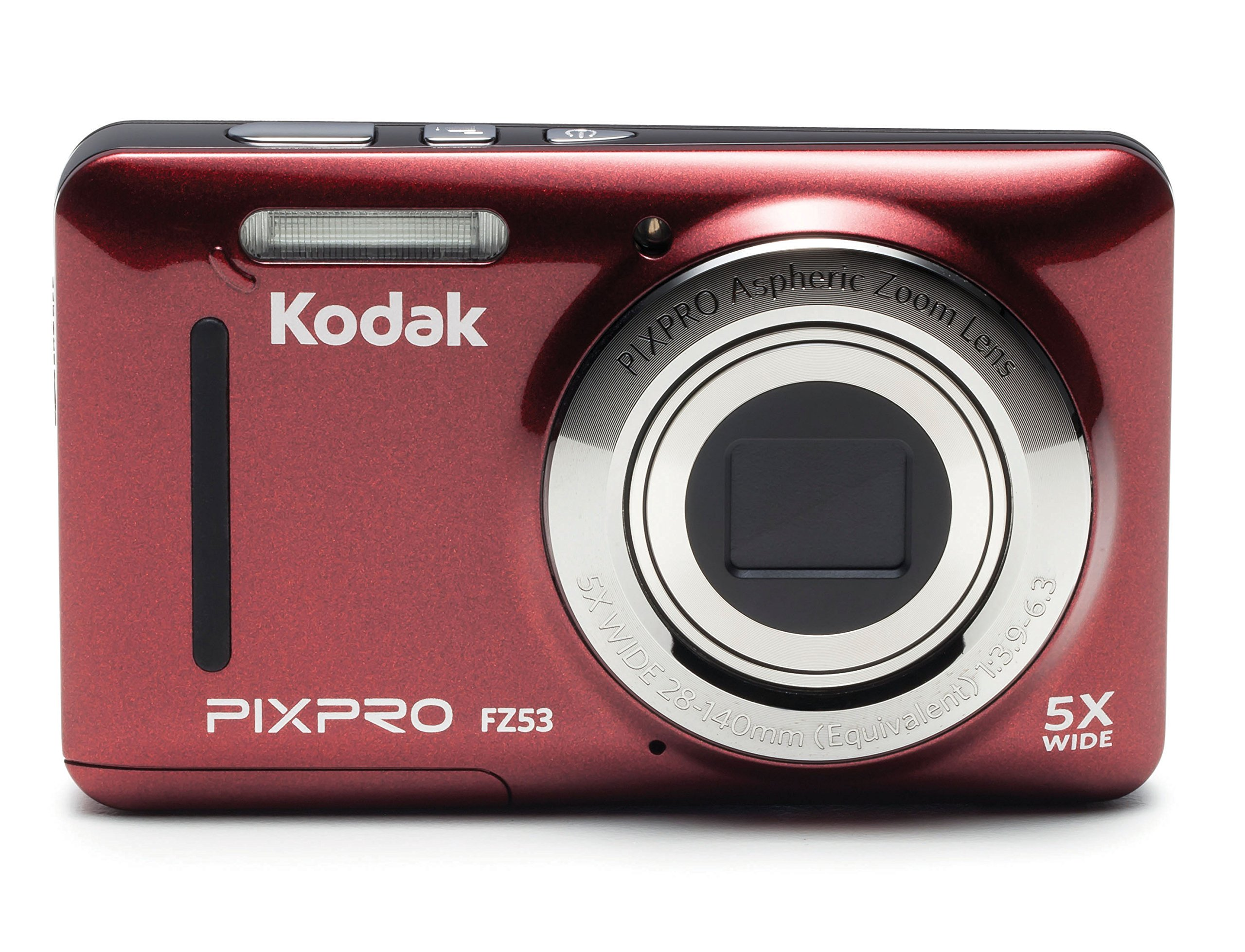 Kodak PIXPRO Friendly Zoom FZ53-RD 16MP Digital Camera with 5X Optical Zoom and 2.7'' LCD Screen (Red)