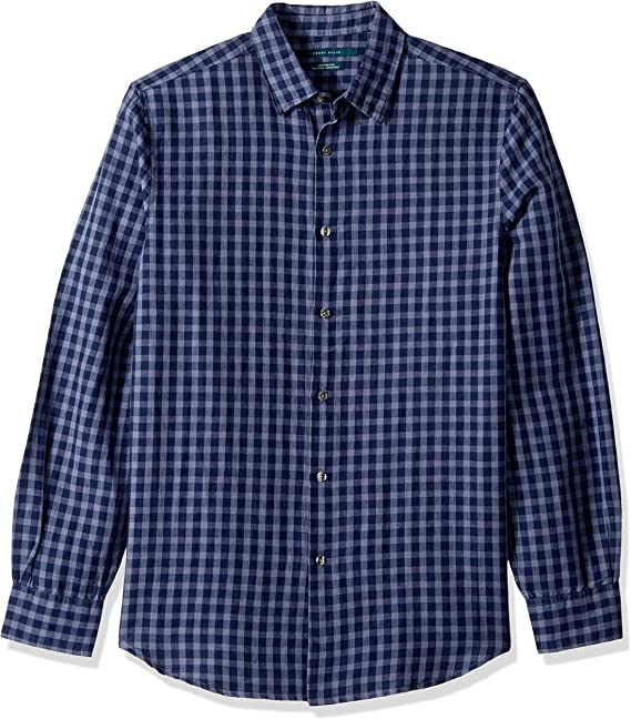 Gnao Mens Long Sleeve Lapel Casual Patterns Slim Fit Button Down Dress Shirts