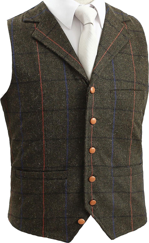 iLovewedding Mens Camouflage Vests for Wedding Groom Camo Waistcoats for Boys