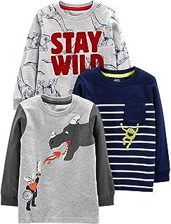 Long-Sleeve Shirt and Woven Pant Playwear Set Simple Joys by Carters Toddler Boys 3-Piece Fleece Vest
