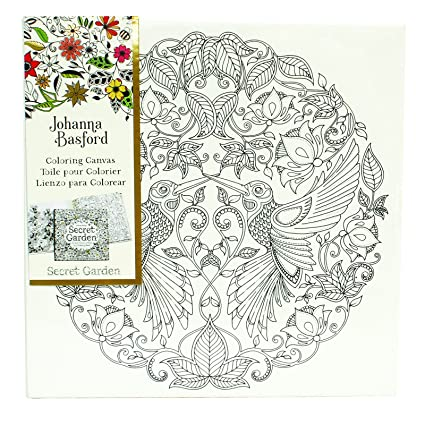 Johanna Basford Secret Garden Coloring Canvas Hummingbird