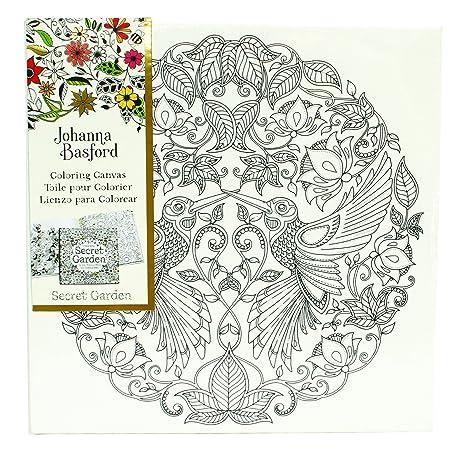Amazon.com: Johanna Basford Secret Garden Coloring Canvas ...