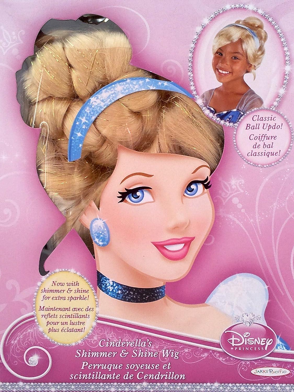 amazoncom disney princess cinderella shimmer and shine wig toys u games with lustre princesse disney. Black Bedroom Furniture Sets. Home Design Ideas