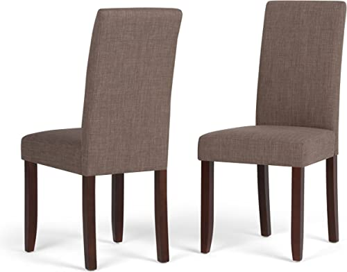 SIMPLIHOME Acadian Contemporary Parson Dining Chair Set of 2