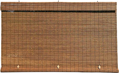 Radiance Lewis Hyman – Imperial Matchstick Cord Free Roll-Up Shade, Fruitwood 36 Inches x 72 Inches