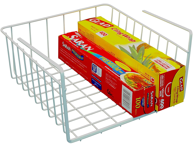 Amazon.com - DecoBros Under Shelf Basket Wrap Rack, White ...
