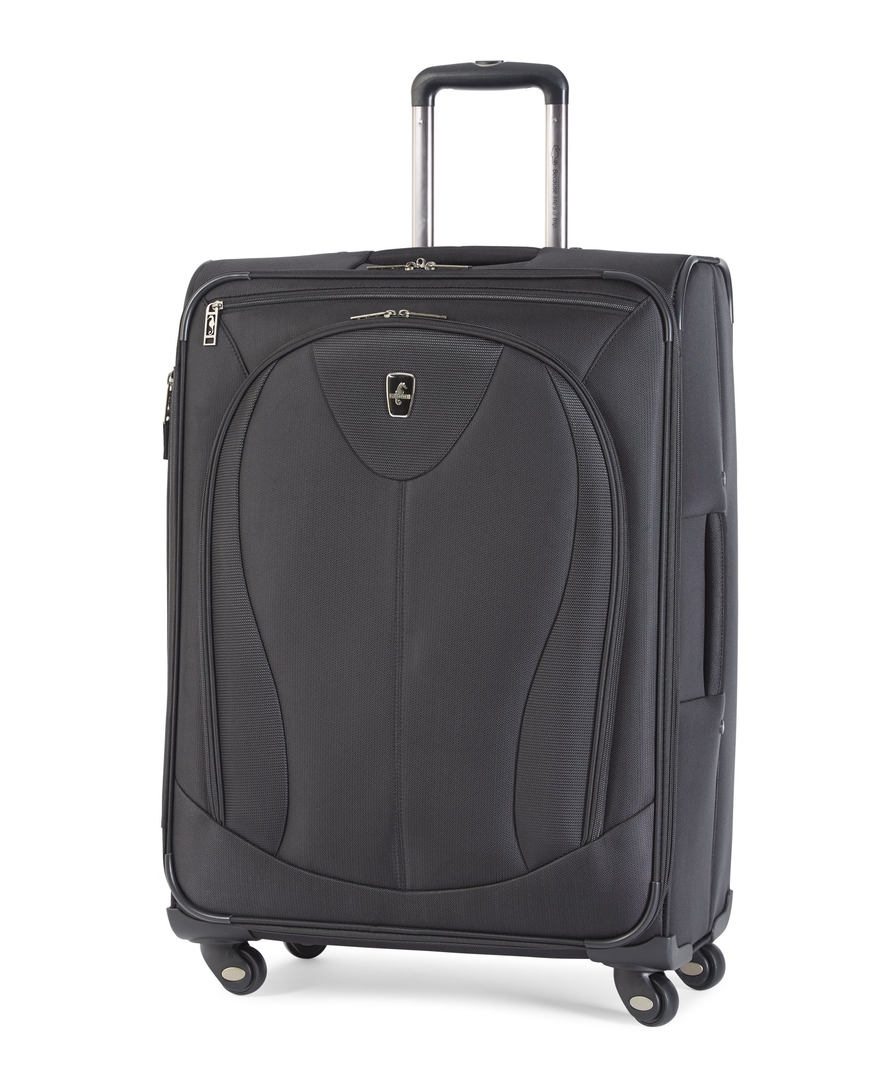 Atlantic Luggage Ultra Lite 3 25 Inch Expandable Spinner Black One Size